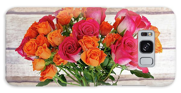 Colorful Rose Bouquet Galaxy Case