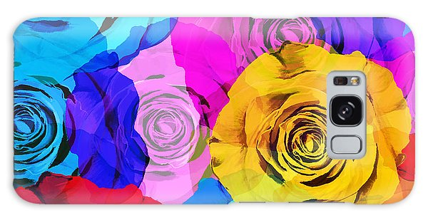 Colorful Roses Design Galaxy Case