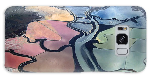 Colorful Salt Evaporation Ponds In San Franccisco Bay Area Galaxy Case