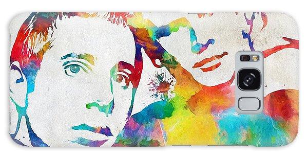 Simon And Garfunkel Galaxy Case - Colorful Simon And Garfunkel by Dan Sproul