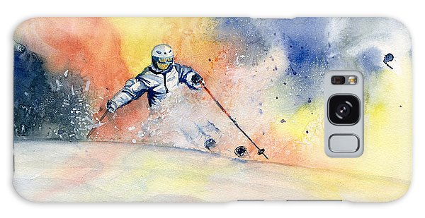 Colorful Skiing Art 2 Galaxy Case