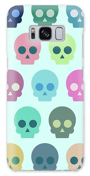 Colorful Skull Cute Pattern Galaxy Case