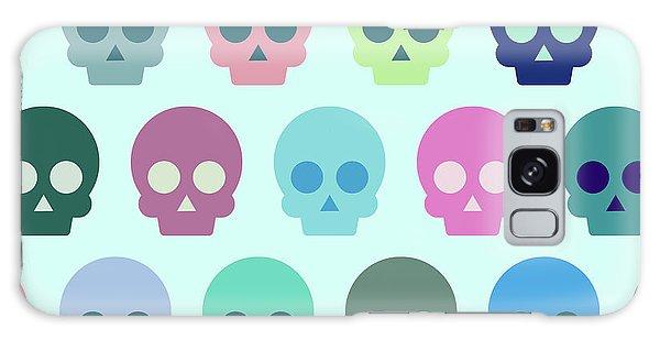 Halloween Galaxy Case - Colorful Skull Cute Pattern by Amir Faysal