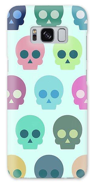 Calavera Galaxy Case - Colorful Skull Cute Pattern by Amir Faysal