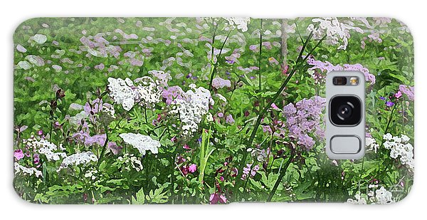 Colorful Spring Flowers In Switzerland Meadow Galaxy Case