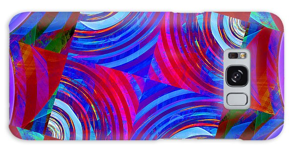 Colorful Squares Galaxy Case
