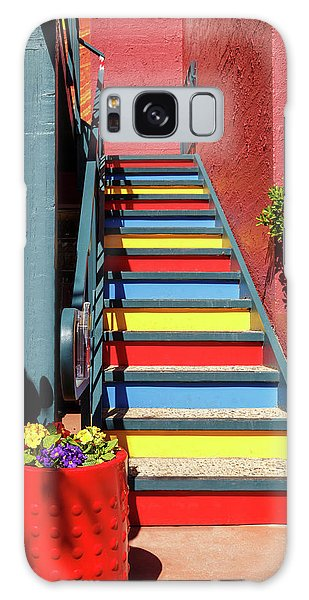 Colorful Stairs Galaxy Case by James Eddy