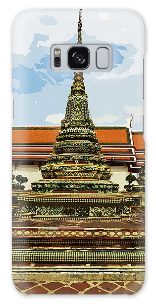 Colorful Stupas At Wat Pho Galaxy Case