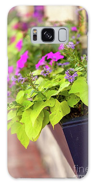 Colorful Summer Flowers In Window Box Galaxy Case