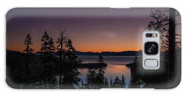 Colorful Sunrise In Emerald Bay Galaxy Case