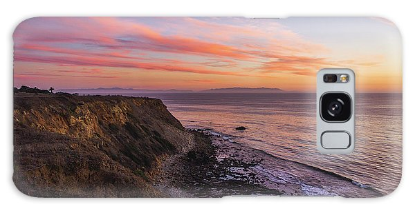 Colorful Sunset At Golden Cove Galaxy Case