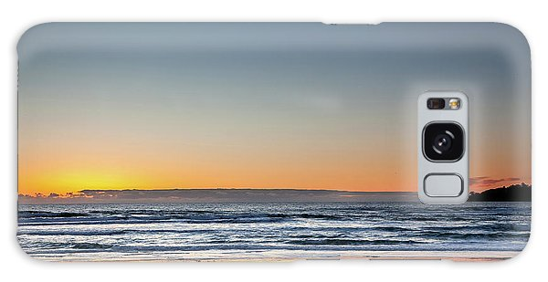 Colorful Sunset Over A Desserted Beach Galaxy Case