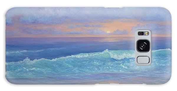 Cape Cod Colorful Sunset Seascape Beach Painting With Wave Galaxy Case