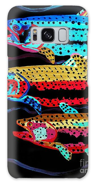 Colorful Swimming Trout Galaxy Case by Scott D Van Osdol
