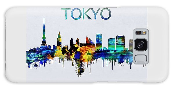 Colorful Tokyo Skyline Silhouette Galaxy Case