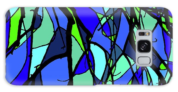 Colorful Tree Abstract Blue Galaxy Case