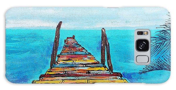 Colorful Tropical Pier Galaxy Case