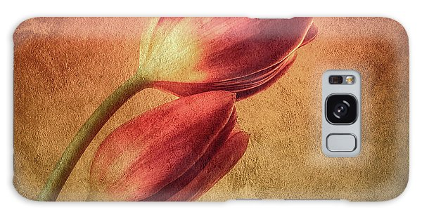 Colorful Tulips Textured Galaxy Case