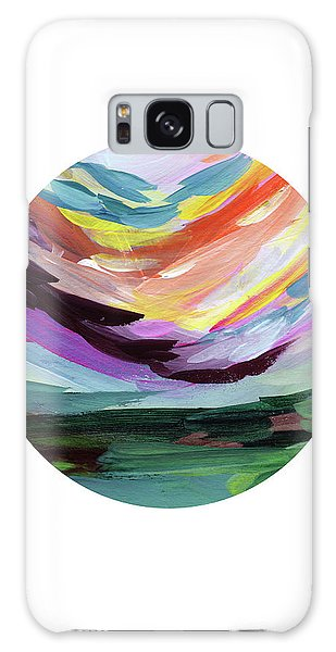 Round Galaxy Case - Colorful Uprising 5 Circle- Art By Linda Woods by Linda Woods