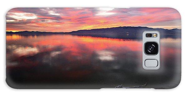 Colorful Utah Lake Sunset Galaxy Case