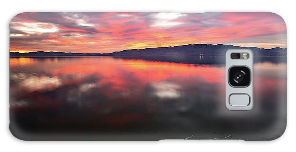 Galaxy Case featuring the photograph Colorful Utah Lake Sunset by Wesley Aston