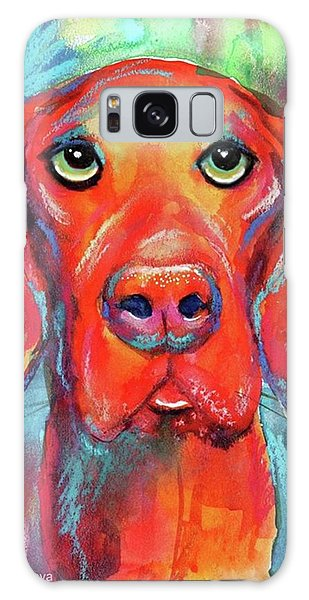 Galaxy Case - Colorful Vista Dog Watercolor And Mixed by Svetlana Novikova