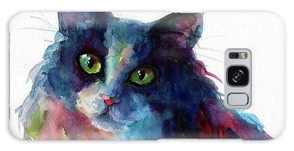 Galaxy Case - Colorful Watercolor Cat By Svetlana by Svetlana Novikova