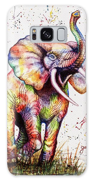 Colorful Watercolor Elephant Galaxy Case
