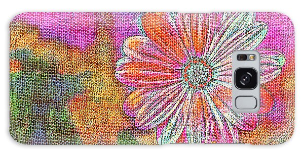 Colorful Watercolor Flower Galaxy Case
