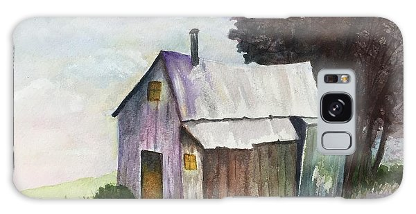 Colorful Weathered Barn Galaxy Case by Lucia Grilletto