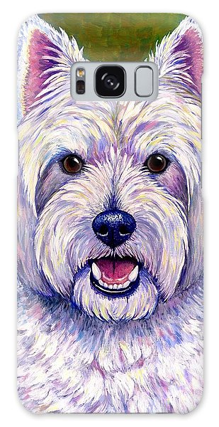 Colorful West Highland White Terrier Dog Galaxy Case