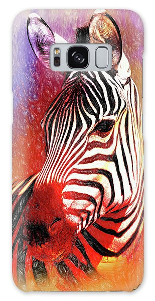 Colorful Zebra Galaxy Case