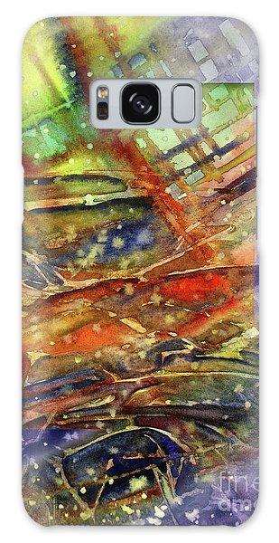 Colors Interrupting Galaxy Case by Allison Ashton
