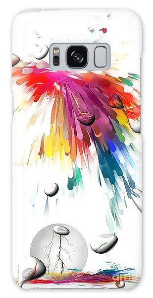 Colors Of Explosions By Nico Bielow Galaxy Case by Nico Bielow