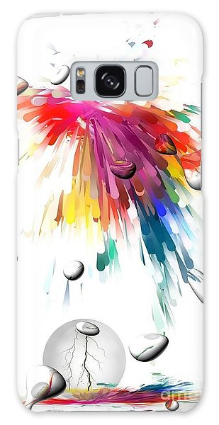 Colors Of Explosions By Nico Bielow Galaxy Case