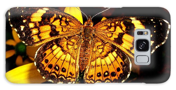 Colors Of Nature - Painted Lady Butterfly 002 Galaxy Case by George Bostian