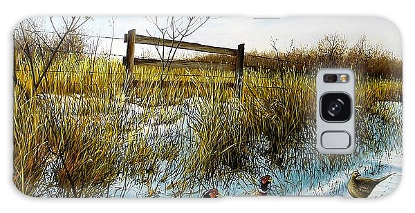 Colors Of Winter - Pheasants Galaxy Case