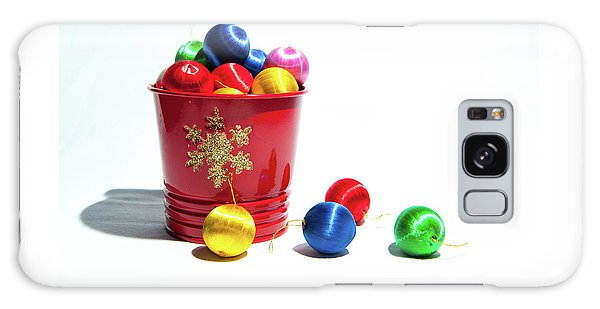 Coloured Baubles In A Pot Galaxy Case