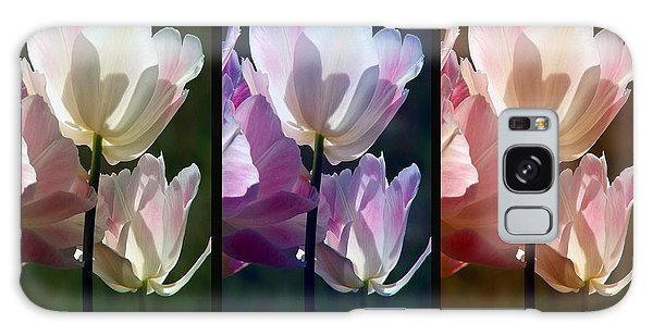 Coloured Tulips Galaxy Case by Robert Meanor