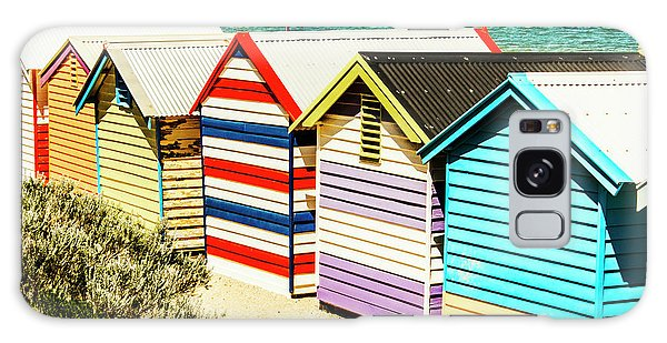 Victoria Galaxy Case - Colourful Bathing Sheds by Jorgo Photography - Wall Art Gallery