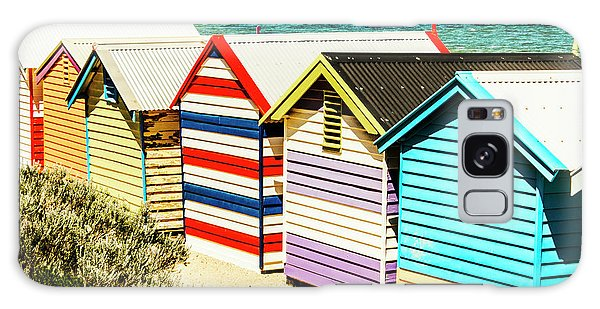 Shed Galaxy Case - Colourful Bathing Sheds by Jorgo Photography - Wall Art Gallery