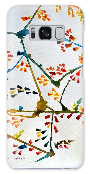 Colourful Blossoms Galaxy Case by Sonali Gangane