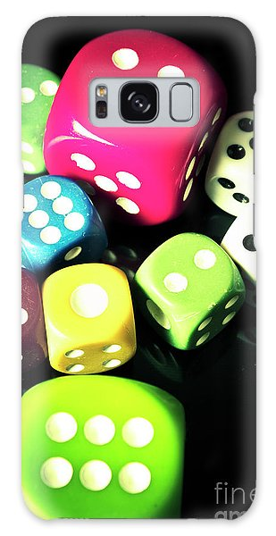 Gamble Galaxy Case - Colourful Casino Dice  by Jorgo Photography - Wall Art Gallery