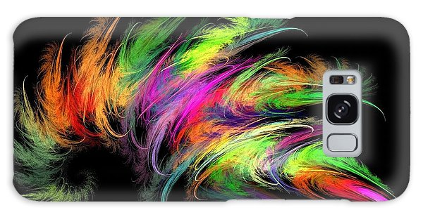 Colourful Feather Galaxy Case by Klara Acel