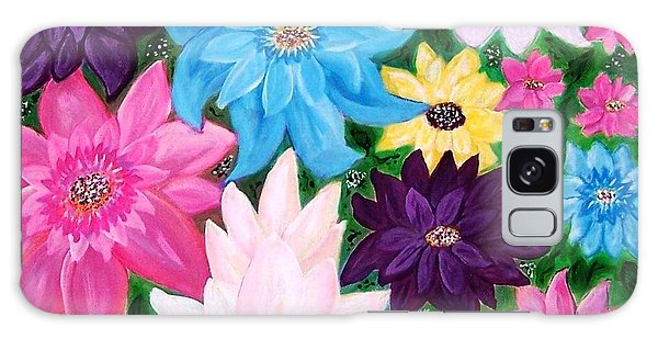 Galaxy Case featuring the painting Colourful Flowers by Sonya Nancy Capling-Bacle