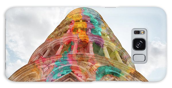 Galaxy Case featuring the mixed media Colourful Leaning Tower Of Pisa by Clare Bambers