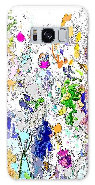 Colourful Meadow I Galaxy Case