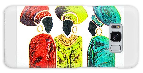 Colourful Trio - Original Artwork Galaxy Case