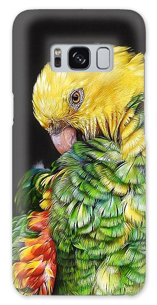Colours Of The Jungle - Yellow-headed Amazon Galaxy Case