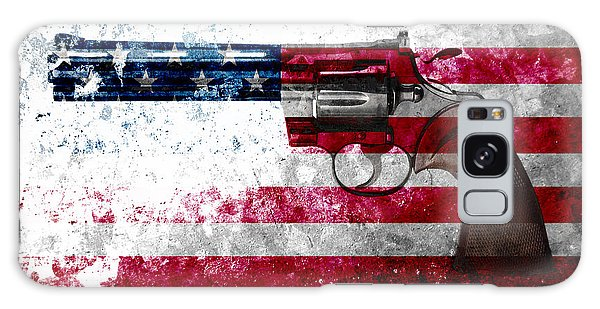 Colt Python 357 Mag On American Flag Galaxy Case
